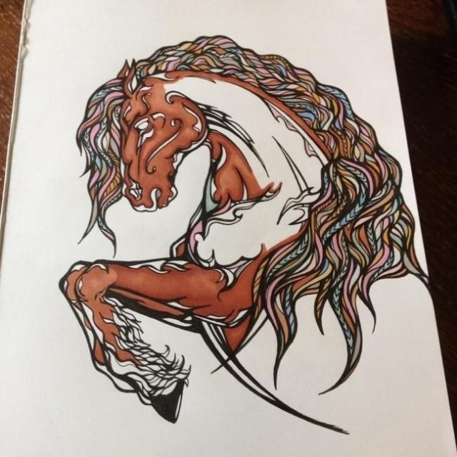 Horse tattoo 35 650×650