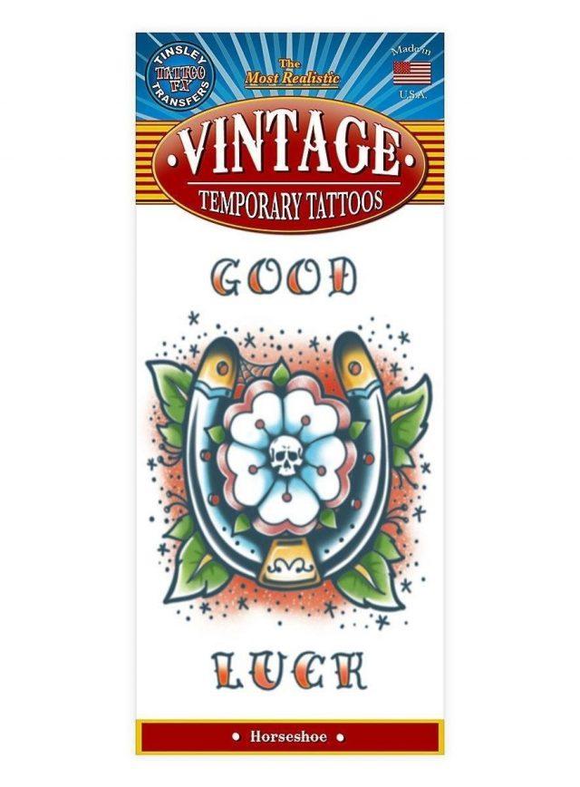 Hufeisen vintage klebe tattoo  mw 130105 1