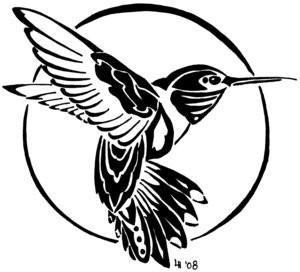 Hummingbird drawing tattoo 19