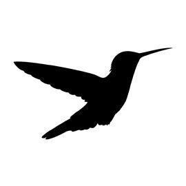 Hummingbird silhouette tattoo 18