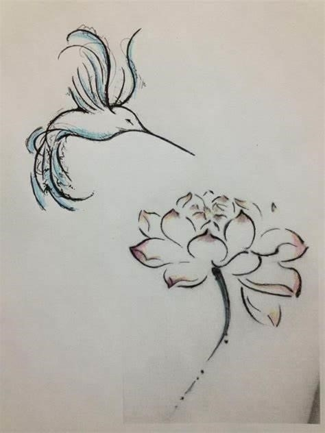 Hummingbird sketch tattoo 13