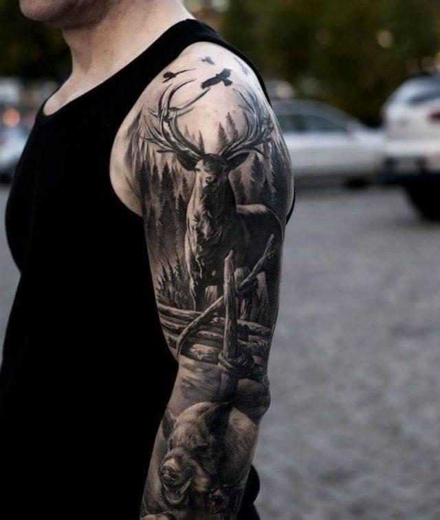 Hunting sleeve tattoo
