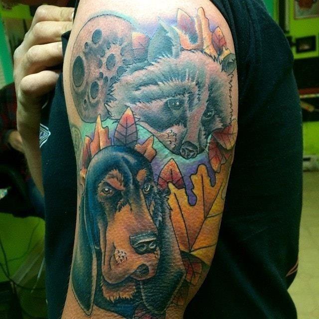 Hunting tattoo sleeve