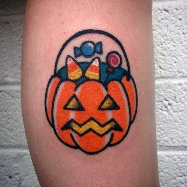 Impressive male candy tattoo designs halloween