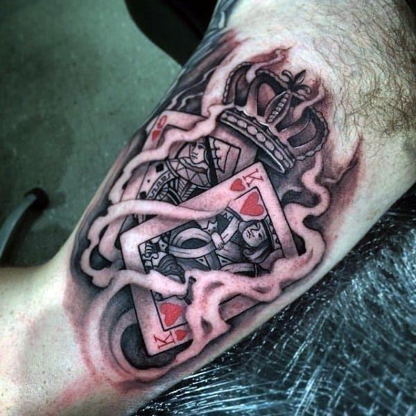 Inside bicep tattoo for men