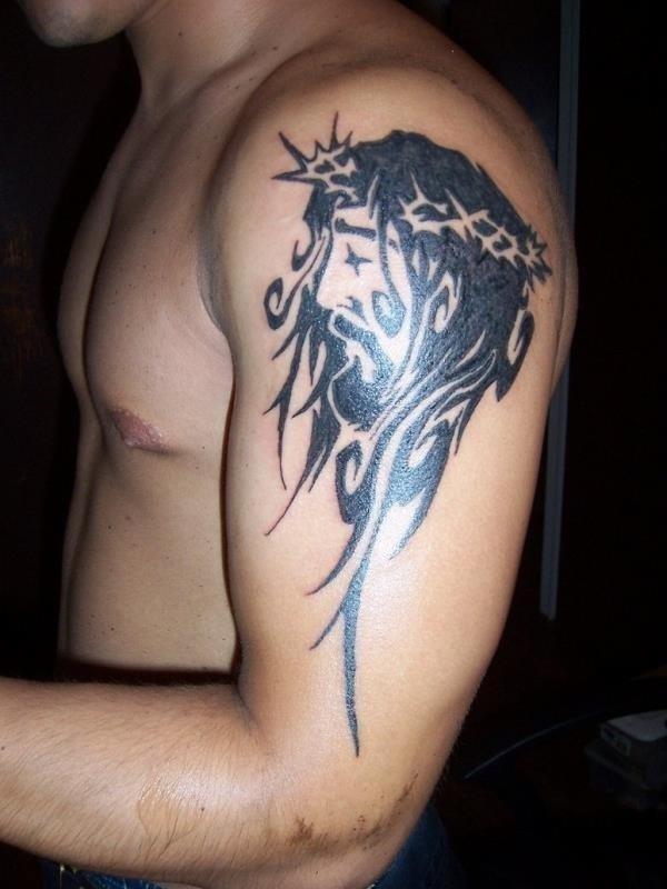 Jesus christ stylish tattoo