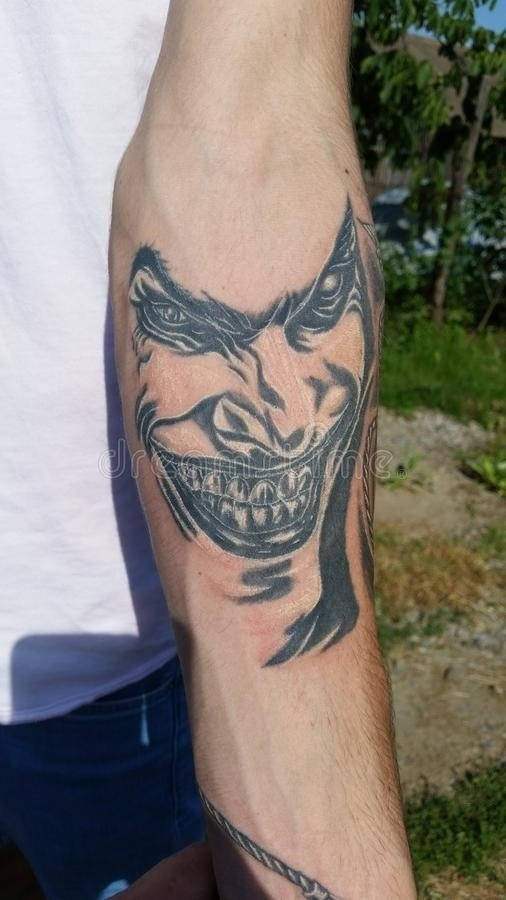 Joker tattoo simple design 72527014