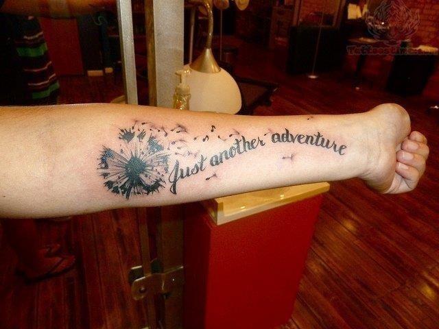 Just another adventure dandelion tattoo