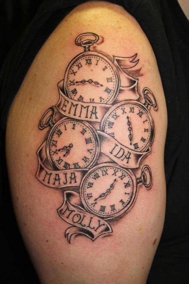 Kids name tattoo design arm 02
