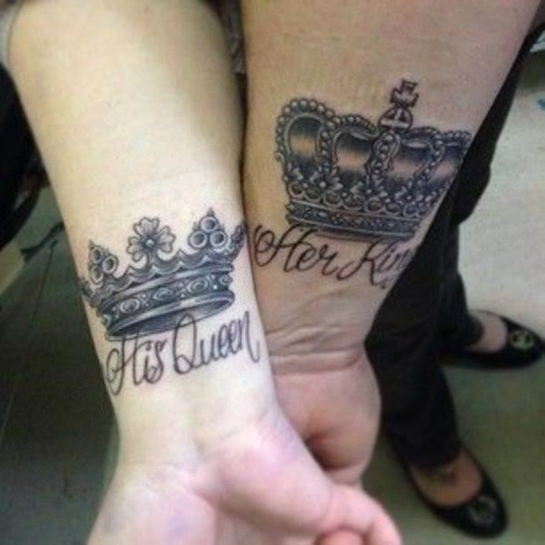 King and queen tattoo