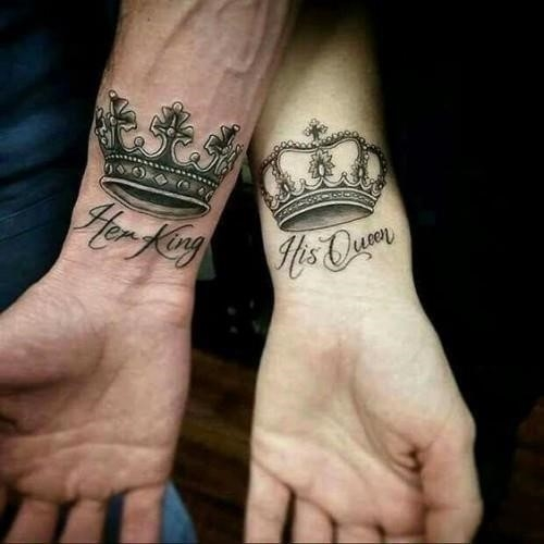King and queen tattoos 33
