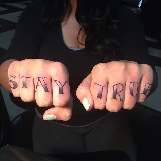 Knuckle tattoo 18