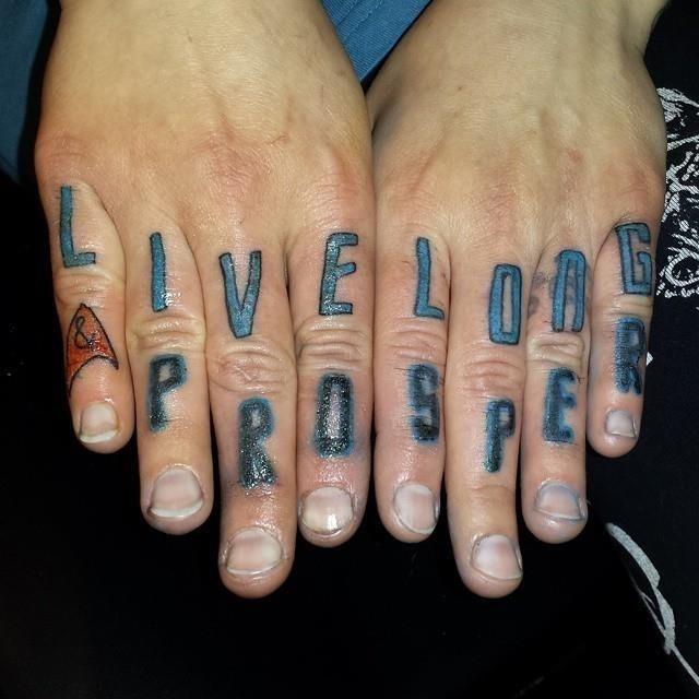 Knuckle tattoo 20