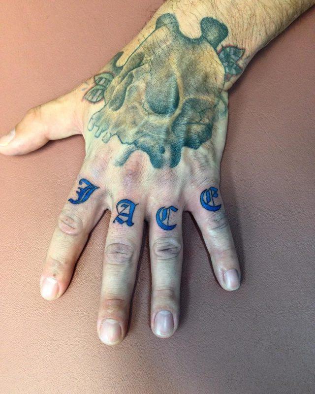 Knuckle tattoo 44