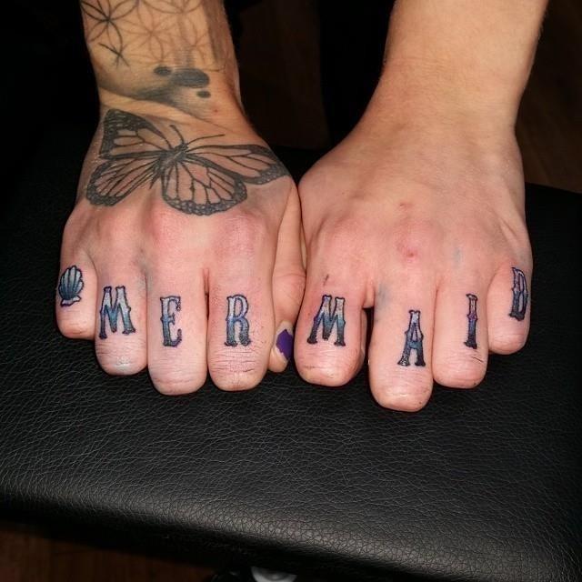 Knuckle tattoo 7