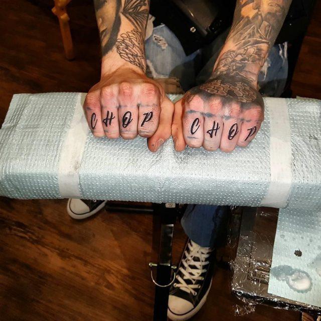Knuckle tattoos  11