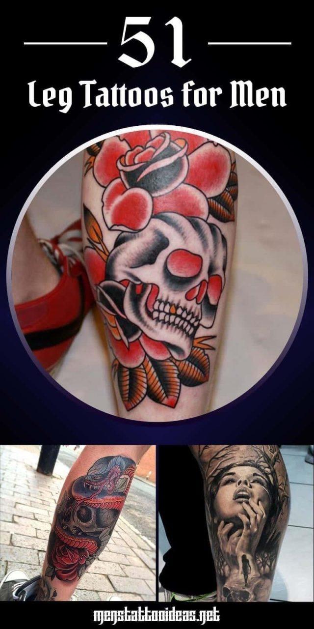 Leg tattoo pinterest share