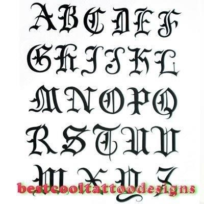 Letter designs for tattoo 32