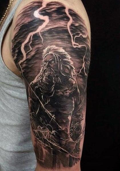 Lightning greek orthodox mens tattoos