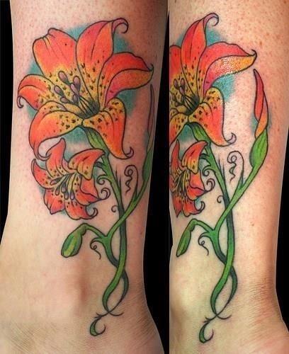 Lily tattoo 4