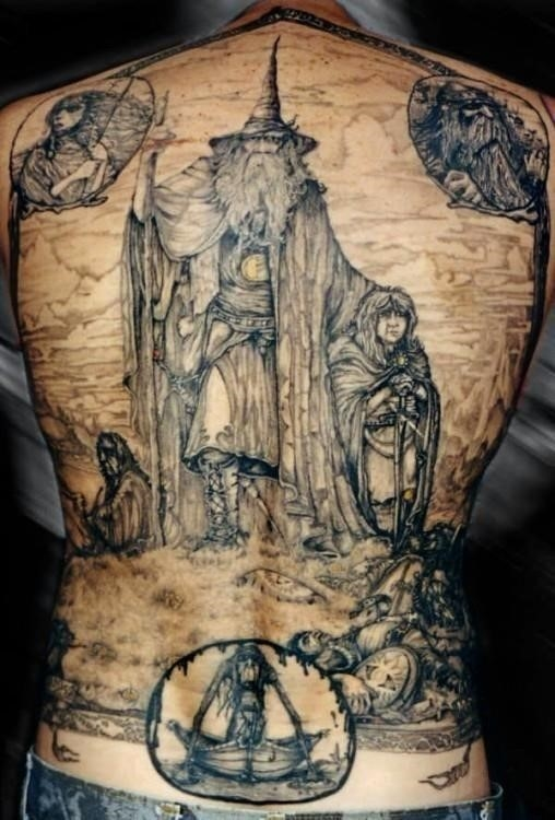 Lord of the rings back tatoo 508×750