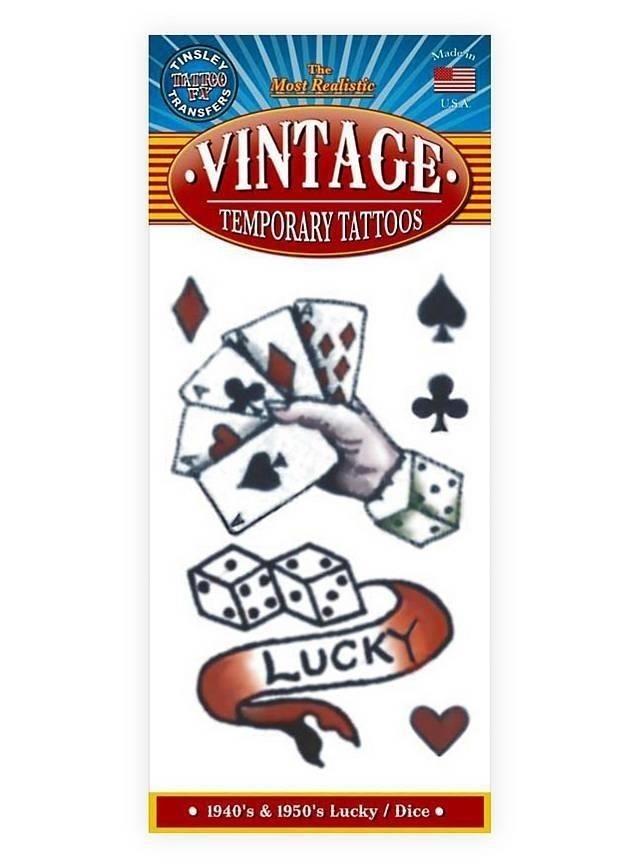 Lucky vintage klebe tattoo  mw 130092 1