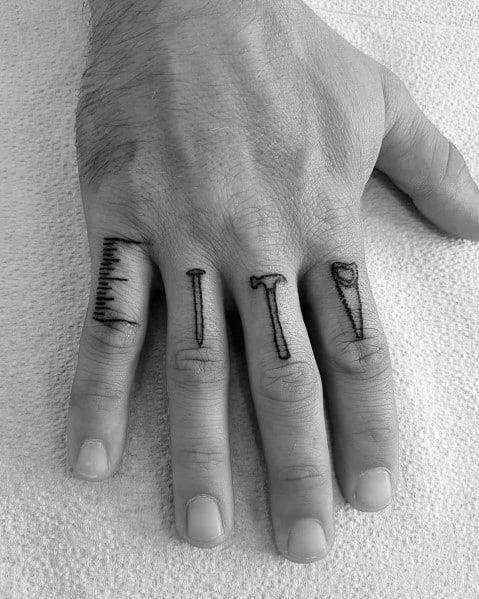 Male carpenter themed tattoo inspiration