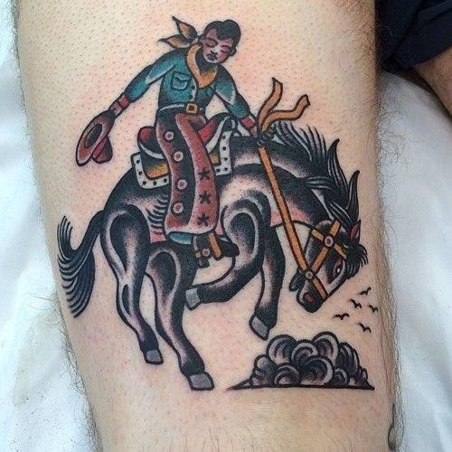 Male traditional horse tattoo design inspiration