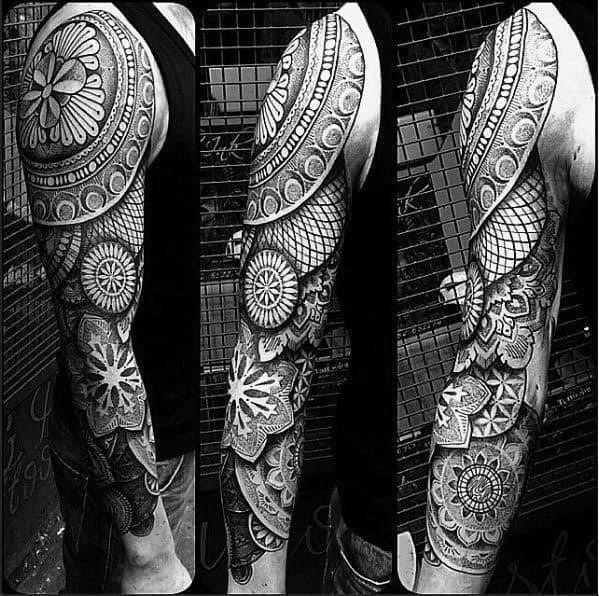 Mandala tattoo design ideas for males full sleeve