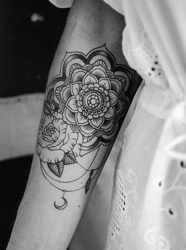 Mandala tattoo designs for girls38