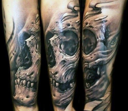 Manly skull tattoos