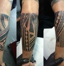 Maori tattoo op onderarm 209×215
