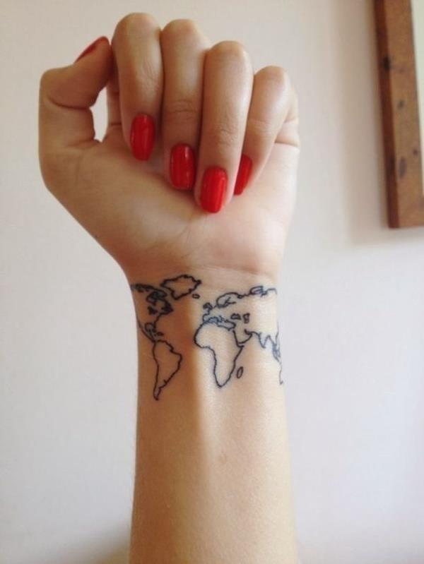 Map tattoo designs 14