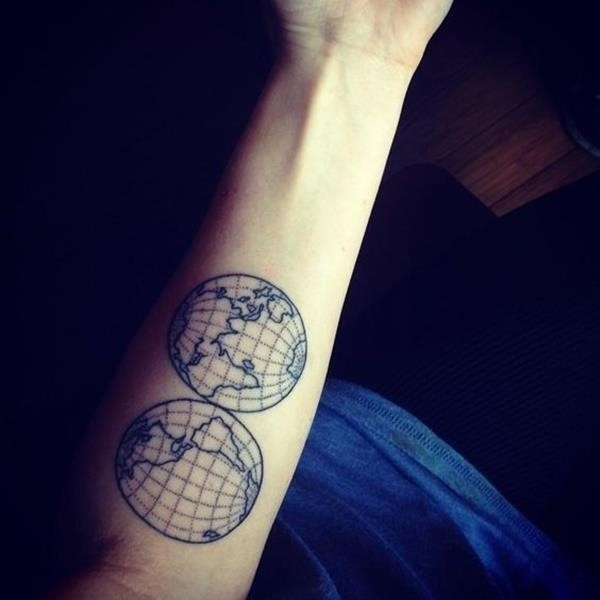 Map tattoo designs 15