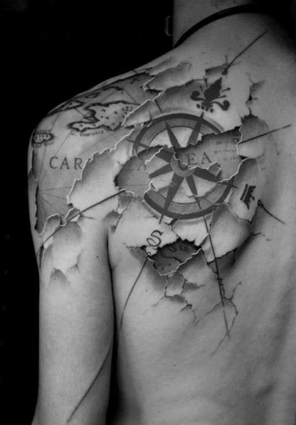 Map tattoo designs 21