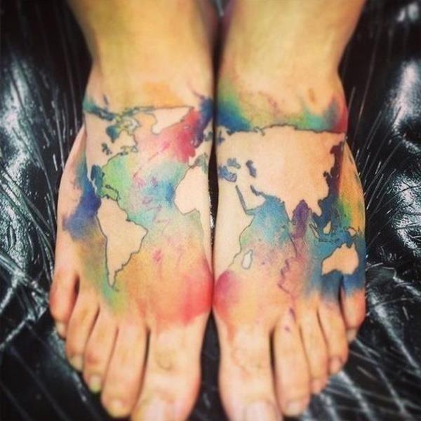 Map tattoo designs 23