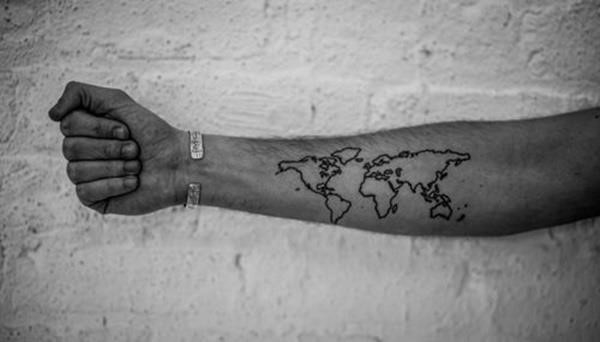 Map tattoo designs 38