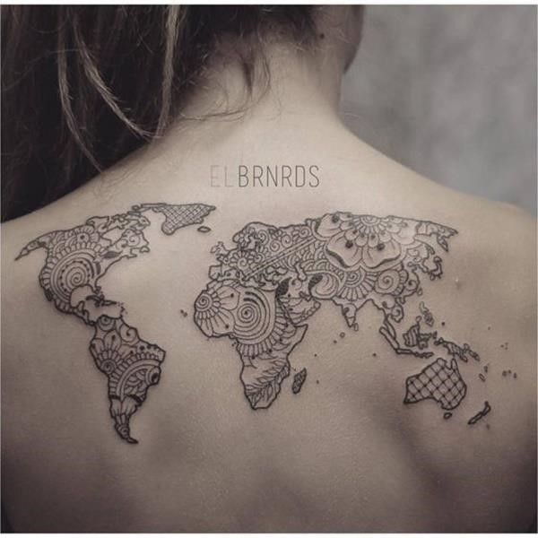 Map tattoo designs 55