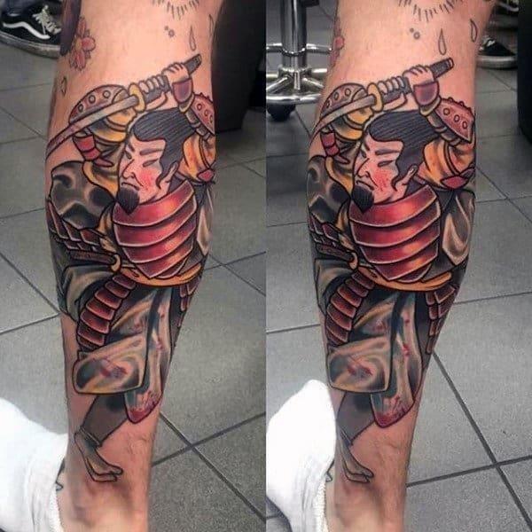 Calf tattoos for guys