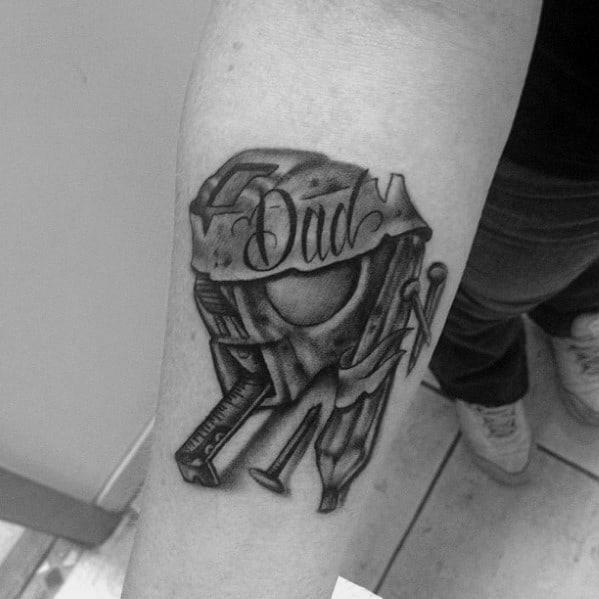 Masculine carpenter tattoos for men