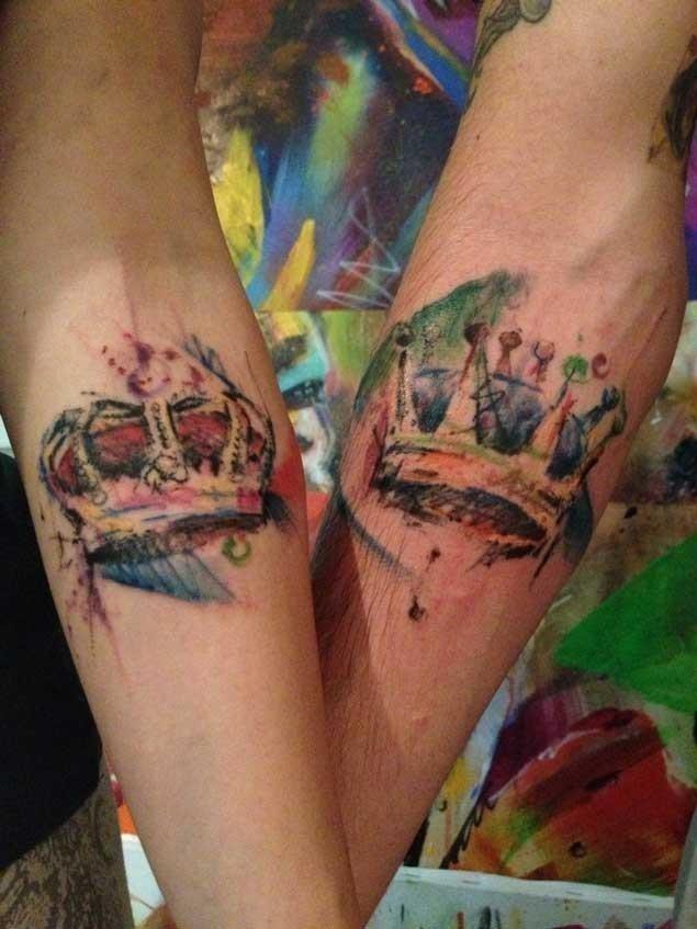 Matching couple tattoos 23