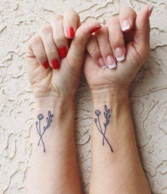 Matching tattoos for mother and daughter