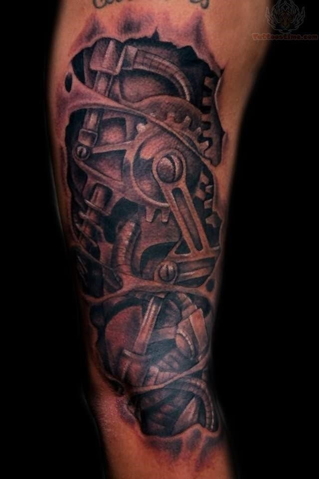 Mechanical structure tattoo