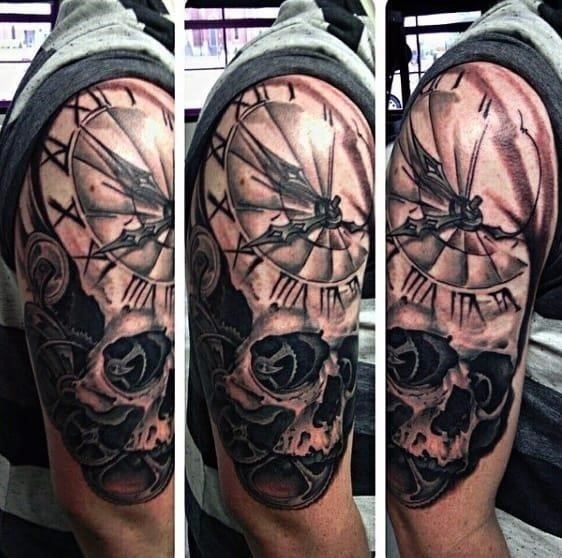Mechanical tattoos designs for guys