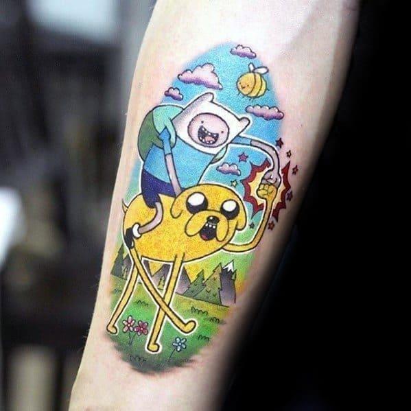 Mens adventure time tattoo ideas