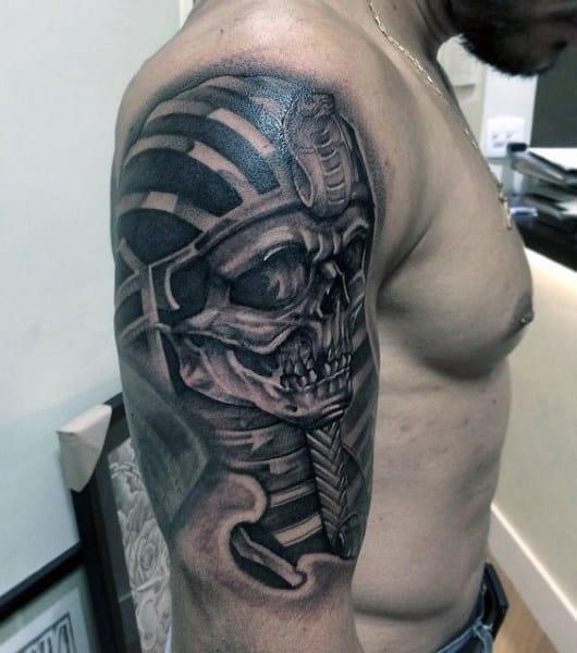 Mens egyptian tattoos on arm