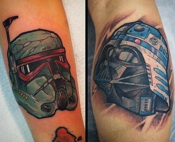 Mens forearm star wars tattoo