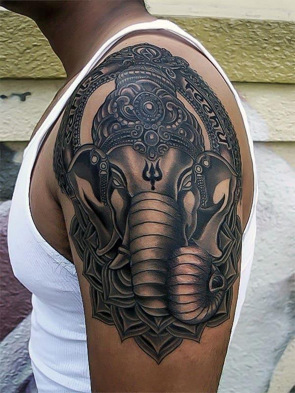 Mens ganesh arm tattoo inspiration