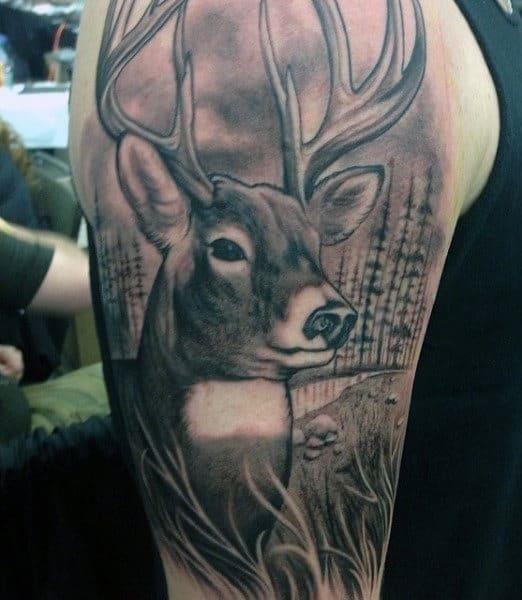 Mens hunting tattoo