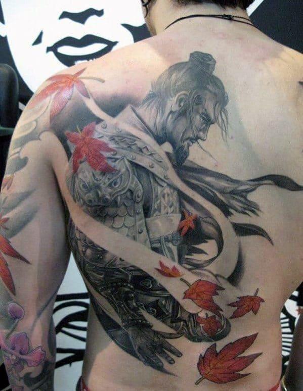 Mens lower back tattoos